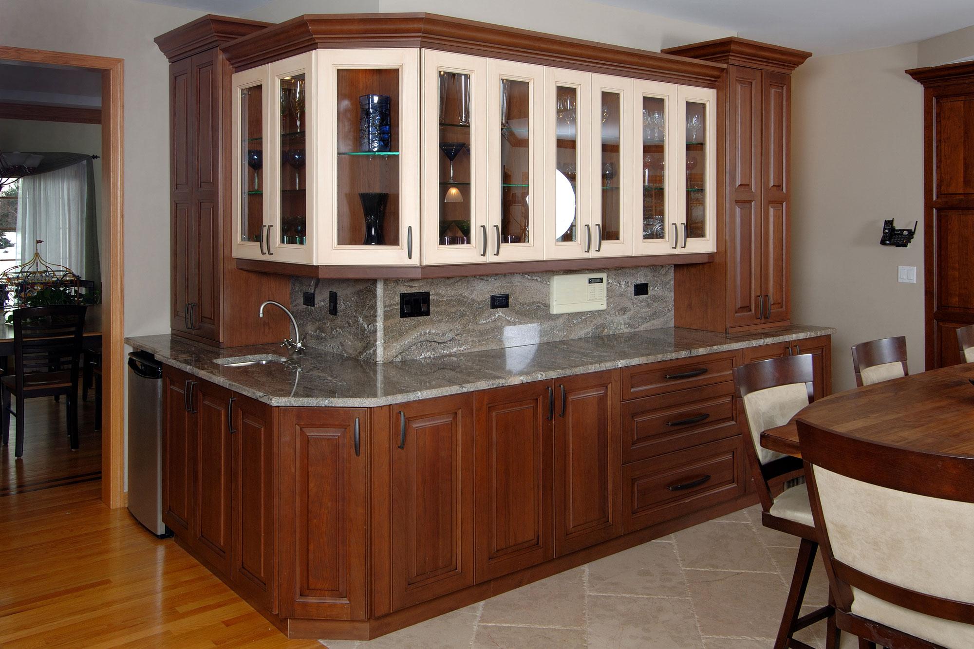 Kitchen cabinets lake zurich il - Cherry Custom Kitchen Cabinets Closeup