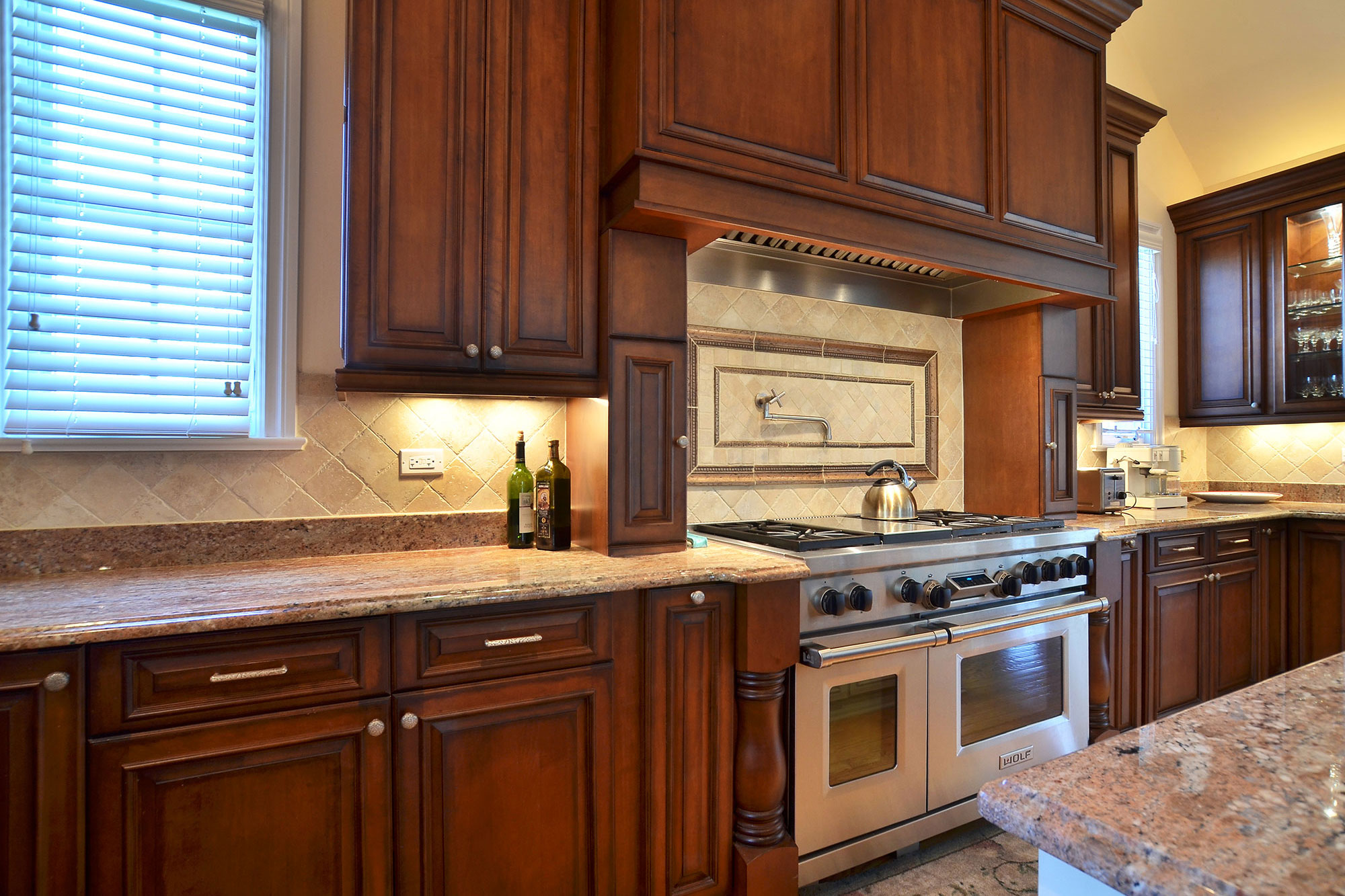 Clear alder cabinets mf cabinets for Custom kitchen remodeling