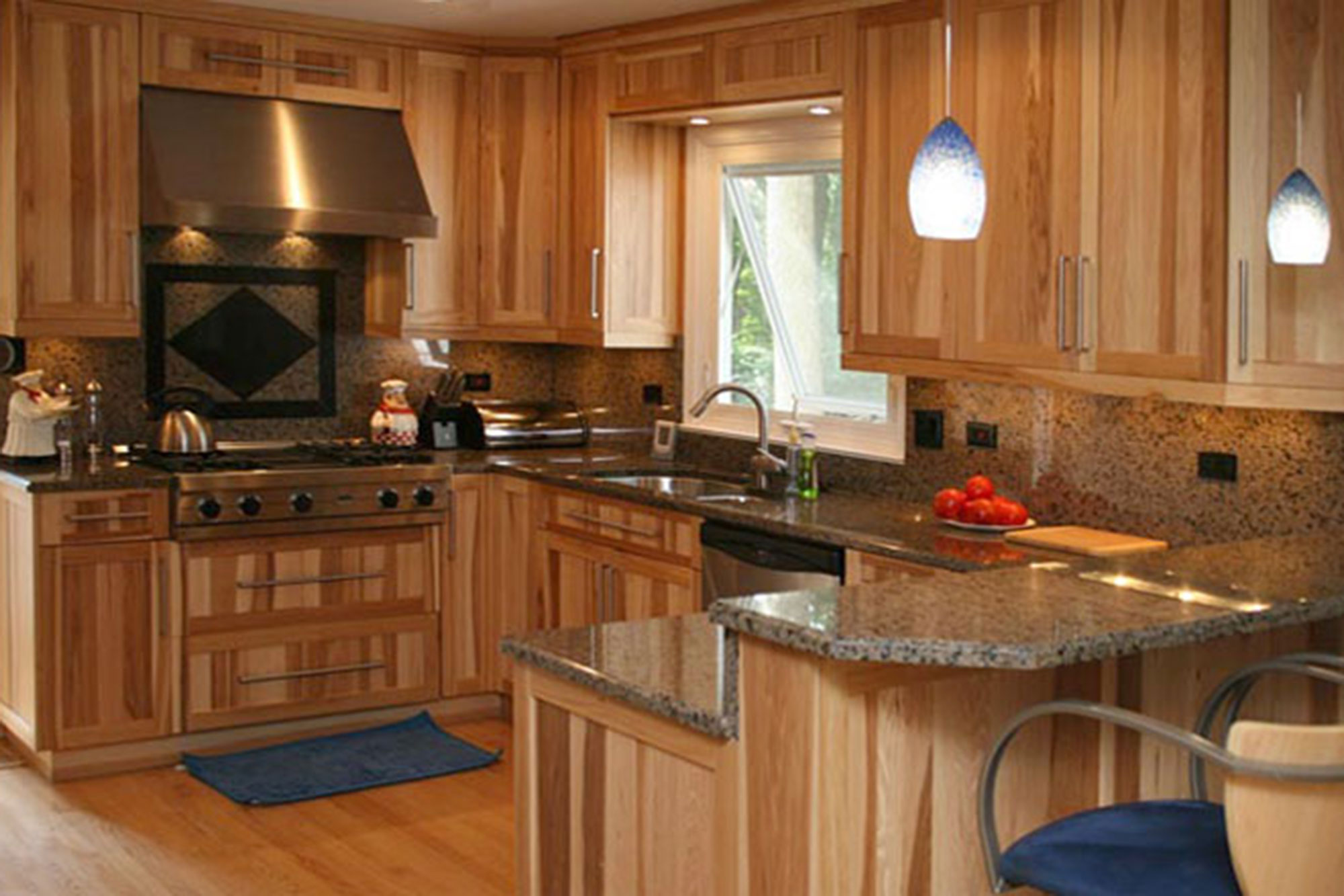 Hickory Wood Custom Kitchen Cabinets